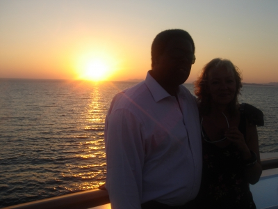 Eric Green and Gabrielle -last day of our cruise
